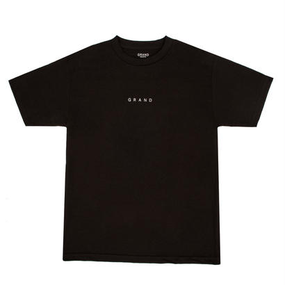 GRAND COLLECTION Small Logo Tee Black