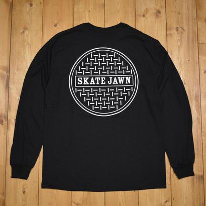 SKATE JAWN Sewer Longsleeve tee - Black