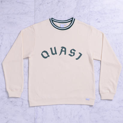 QUASI League crew sweat [Crème]