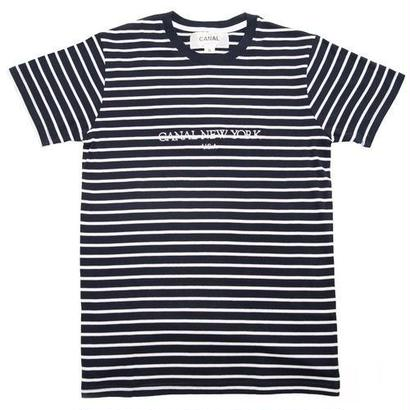 "Canal ""USA"" Striped Tee - Navy"