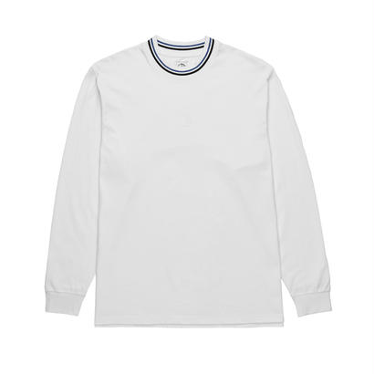 POLAR SKATE CO. STRIPED RIB LONGSLEEVE WHITE