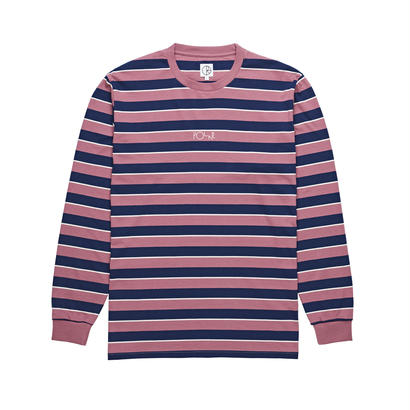 POLAR SKATE CO. STRIPED LONGSLEEVE DUSTY ROSE / NAVY