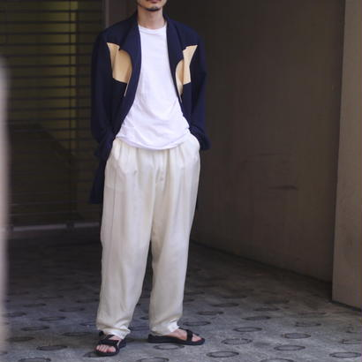 silk wide easy pants(WHT)