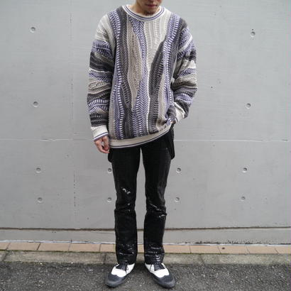 Multicolor design knit