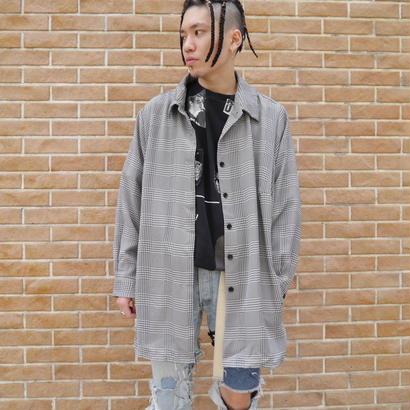 Oversized zigzag shirt jacket