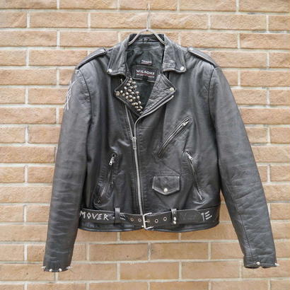 Leather double rider's jacket