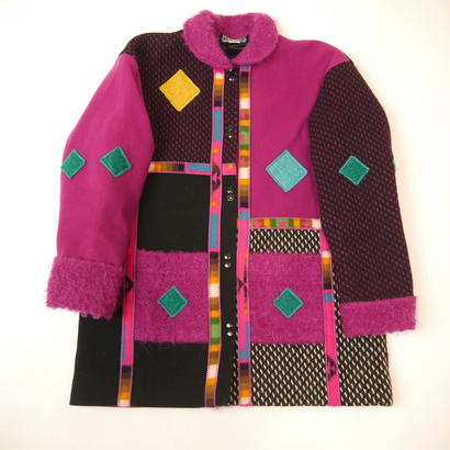 Mondrian pattern design coat
