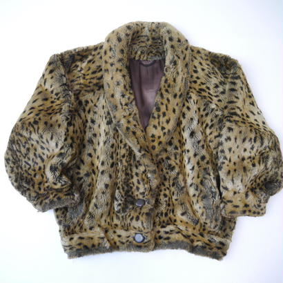 Leopard pattern fur coat