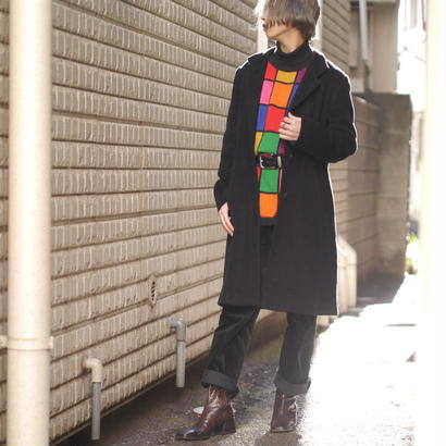 Cashmere stand collar coat