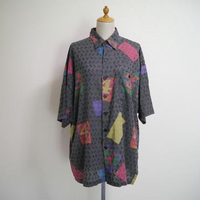Number print S/S shirt