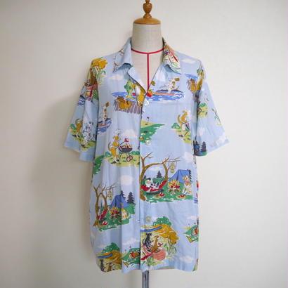 Dogs pattern S/S shirt
