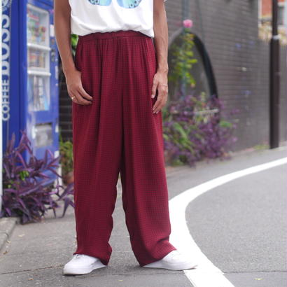 dot pattern wide pants