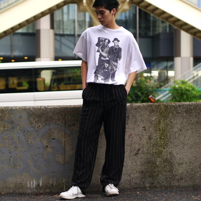 silk stripe easy pants