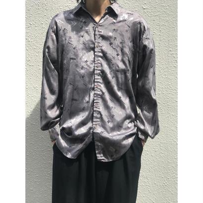 80年代 レーヨン総柄シャツ