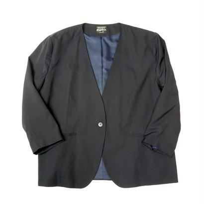 Oversized no-collar jacket