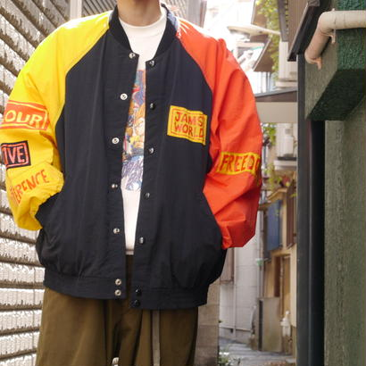 """JAMS WORLD"" Oversized nylon blouson"