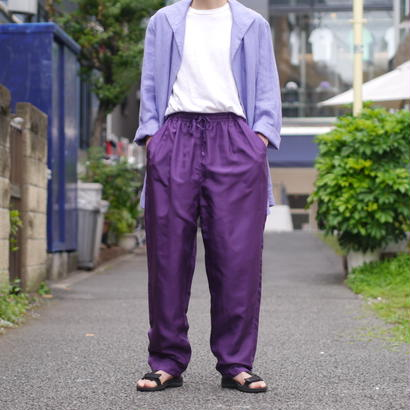 silk wide easy pants (PPL)