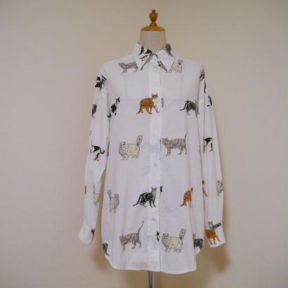 Cats pattern L/S shirt
