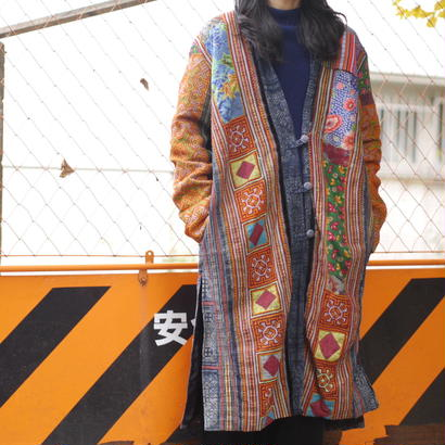 Patchworked long jacket