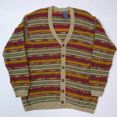 3D design knit cardigan