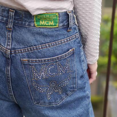 """MCM"" denim pants"