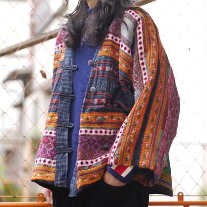 Patchworked design denim jacket