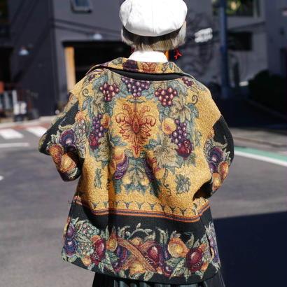 Open-collar gobelins jacket