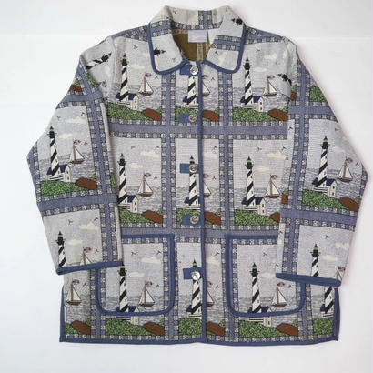 Lighthouse pattern gobelins jacket