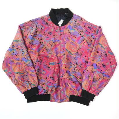 Colorful silk blouson