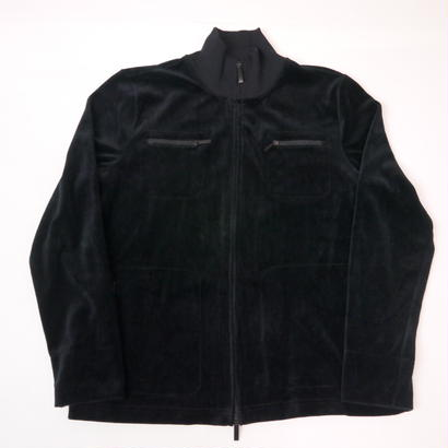 """LAUREN"" double zip velours blouson"