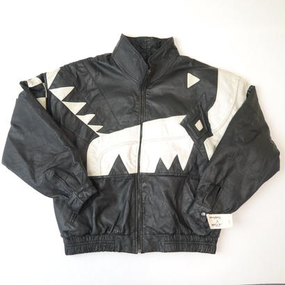 Leather design jacket