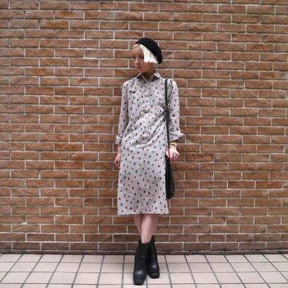 All pattern L/S shirt dress