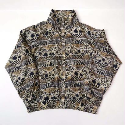 All pattern silk blouson