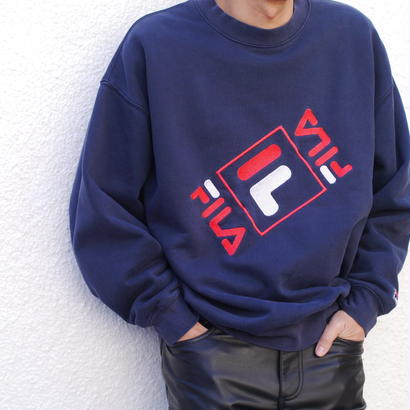 "90s ""FILA"" logo sweat shirt"