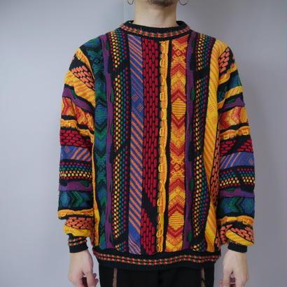 3D design colorful knit