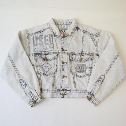 "80s ""GET USED BY ELIE JEANS"" denim jacket"