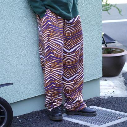 """""""ZUBAZ"""" easy pants(purple×yellow)"""