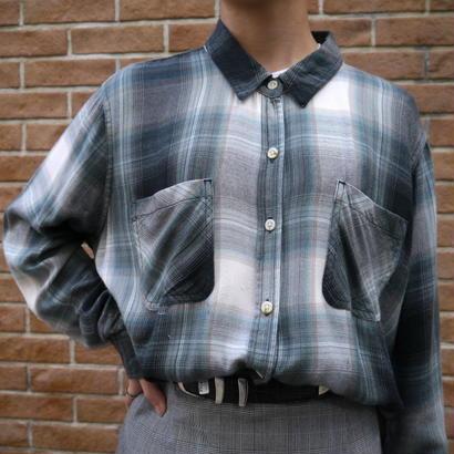 Rayon L/S check shirt