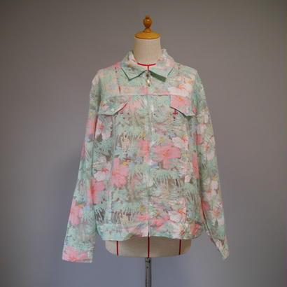 See-through flower pattern jacket