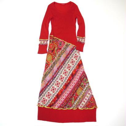 Maxi length knit dress