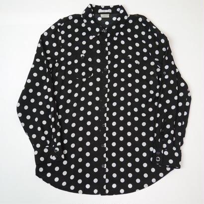 Dots pattern rayon shirt