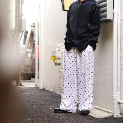 Dots pattern wide pants