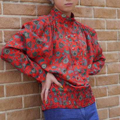 Standcollar flower pullover
