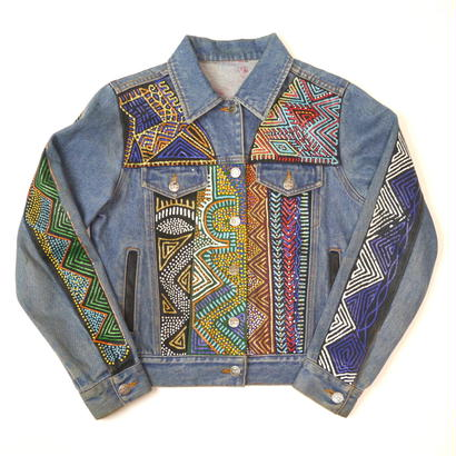 Painting design denim jacket