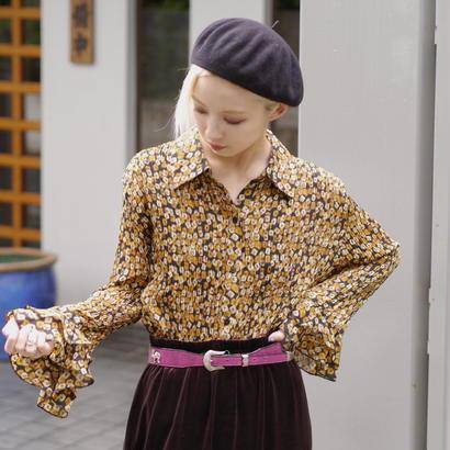 Frill × pleats L/S shirt