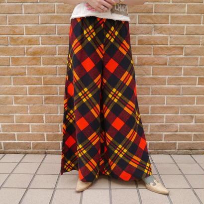 Check pattern easy pants