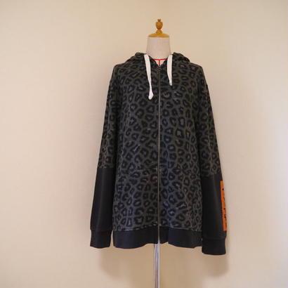 """adidas"" leopard pattern parka"