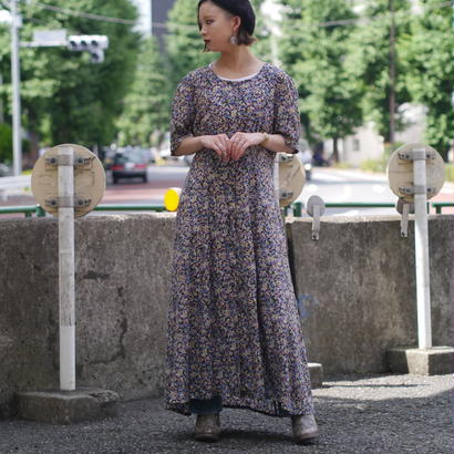 flower pattern S/S dress