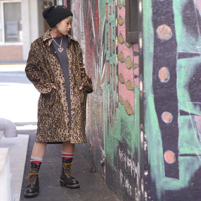 Leopard pattern reversible coat