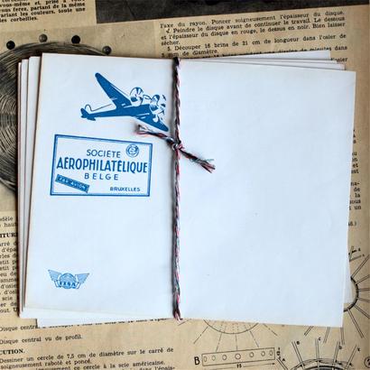 ヴィンテージの飛行機封筒セット